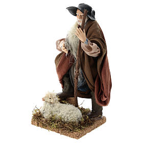 Neapolitan Nativity figurine, shepherd, 18 cm s3