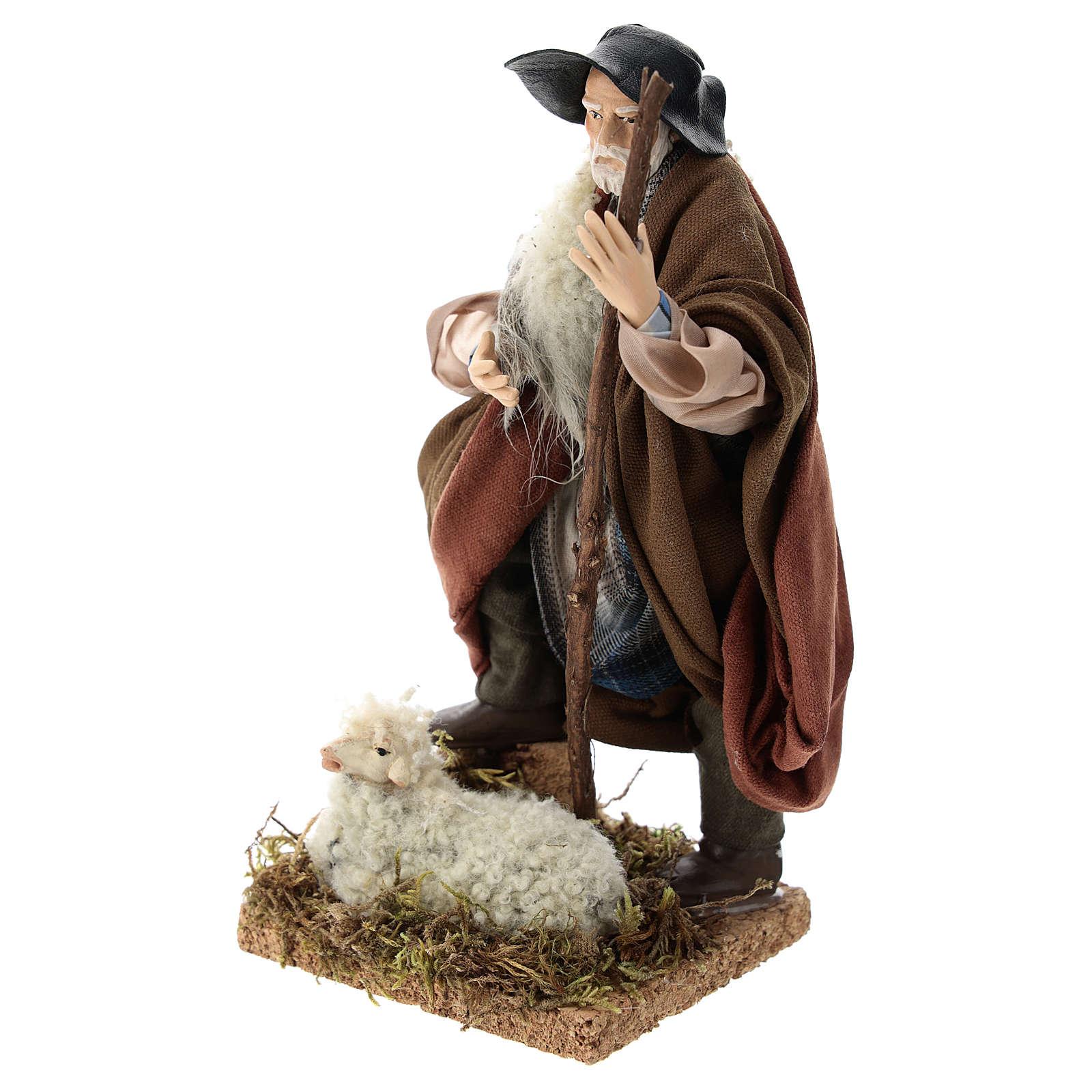 Berger et son mouton crèche Napolitaine 18 cm 4