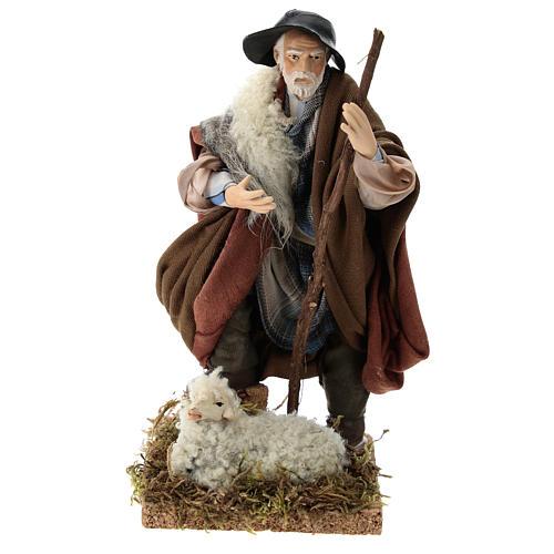 Berger et son mouton crèche Napolitaine 18 cm 1
