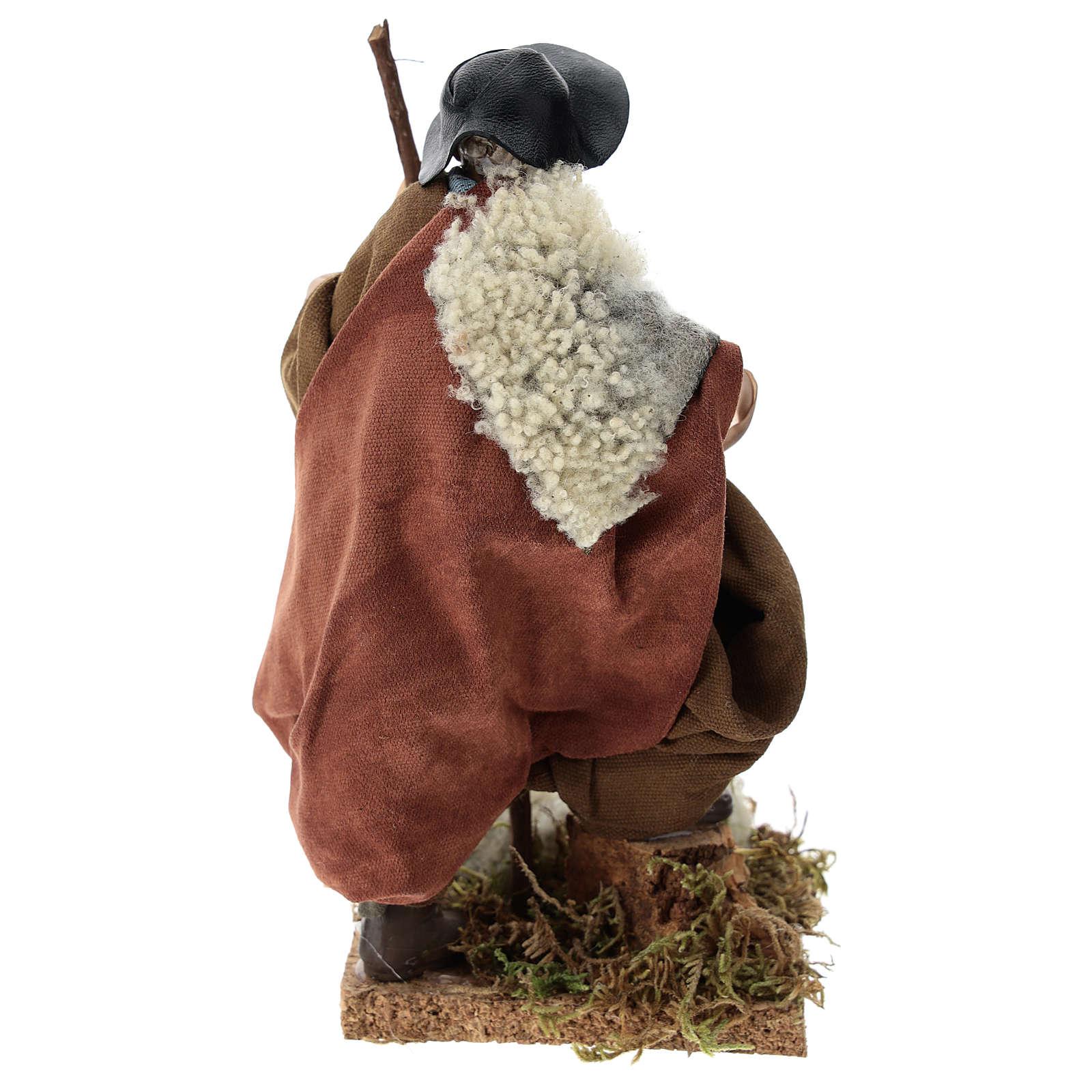 Hodowca owiec 18 cm szopka z Neapolu 4