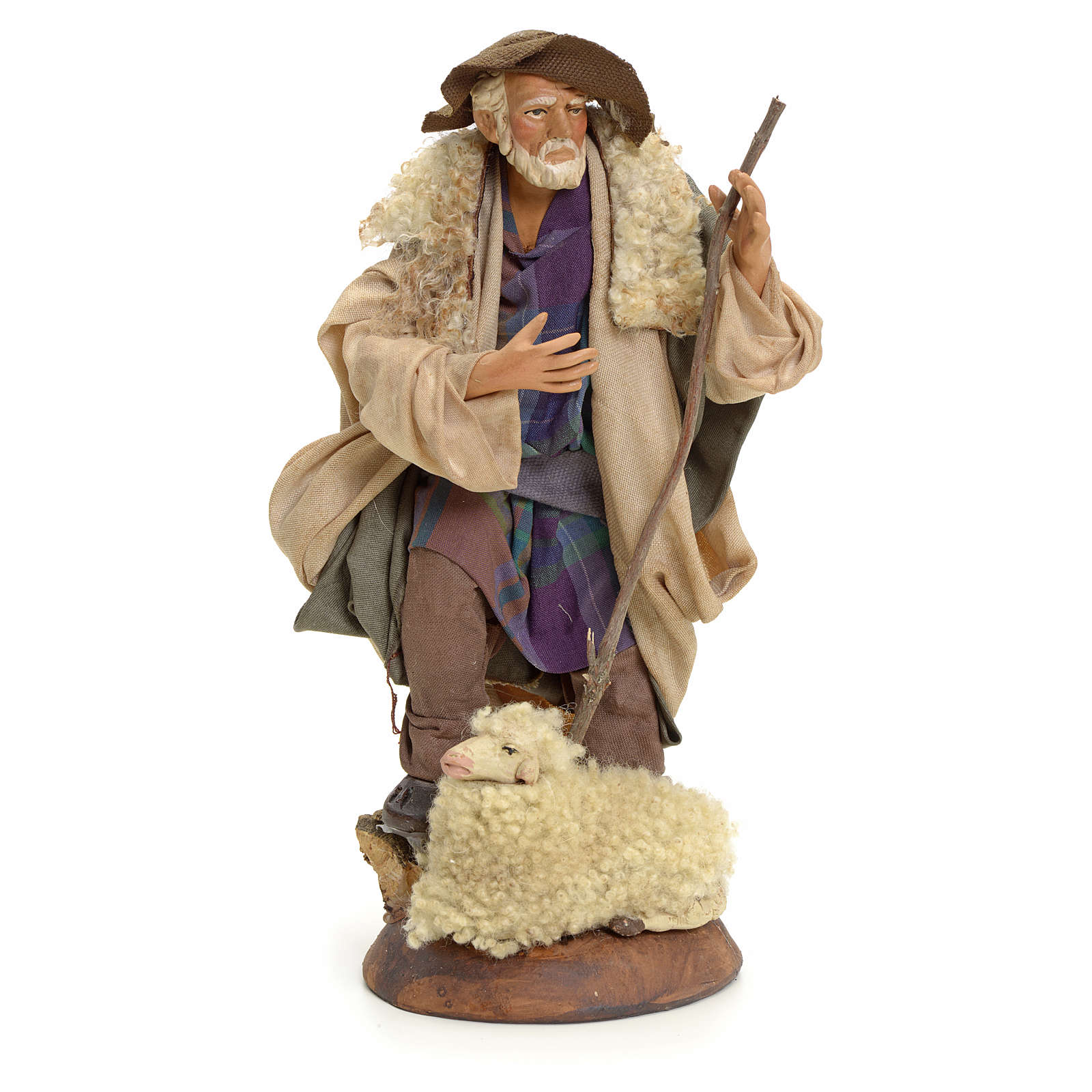 Neapolitan Nativity figurine, shepherd, 18 cm 4