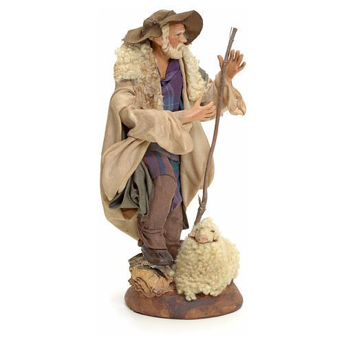 Neapolitan Nativity figurine, shepherd, 18 cm 2