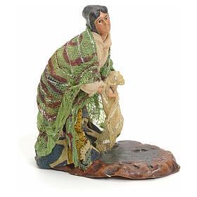 Mujer con paños extendidos cm 8 pesebre napolitano s2