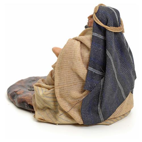 Homme arabe assis crèche Napolitaine 8 cm 3