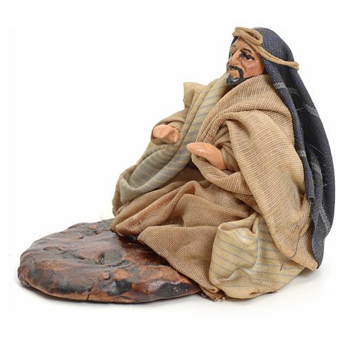 Neapolitan nativity figurine, Arabian man warming up, 8cm 2