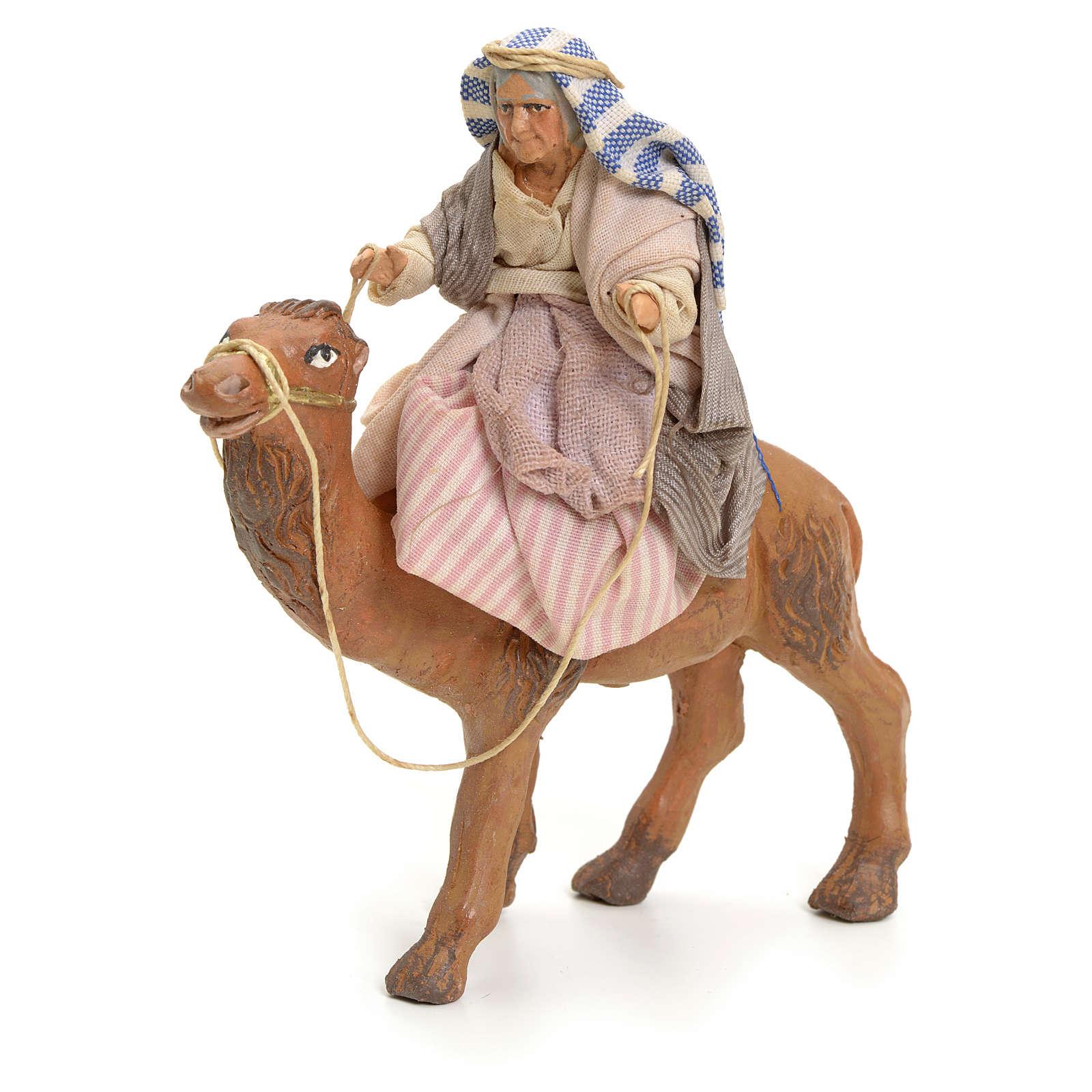 Anciana sobre camello cm 8 pesebre napolitano 4