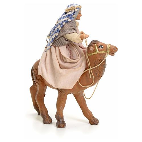 Anciana sobre camello cm 8 pesebre napolitano 2