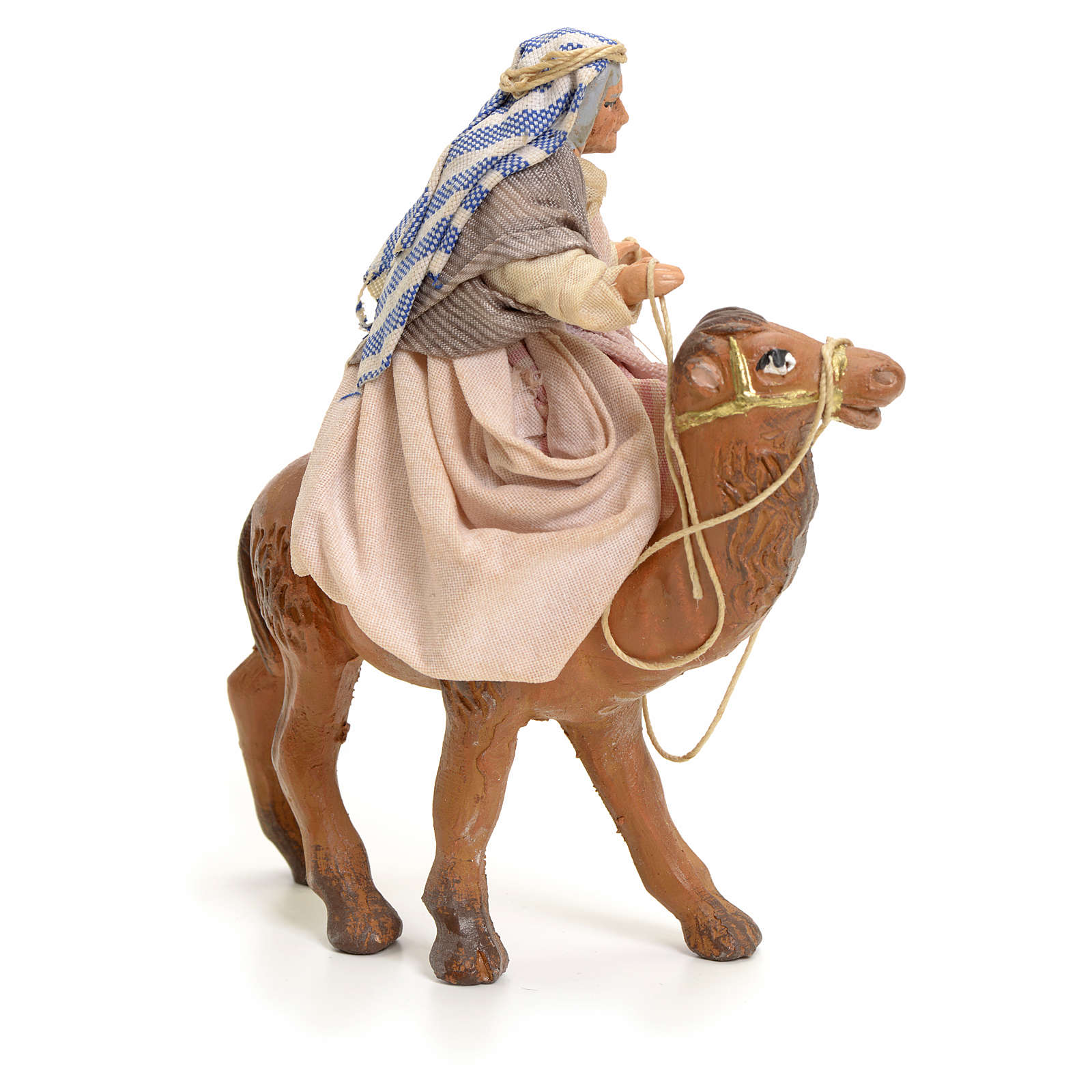 Old lady on Camel, 8cm for Neapolitan Nativity 4