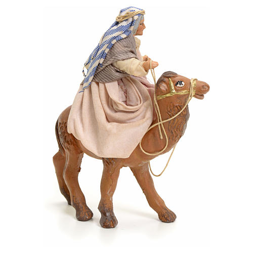Old lady on Camel, 8cm for Neapolitan Nativity 2