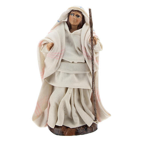 Neapolitan nativity figurine, Arabian woman with stick, 8cm 1