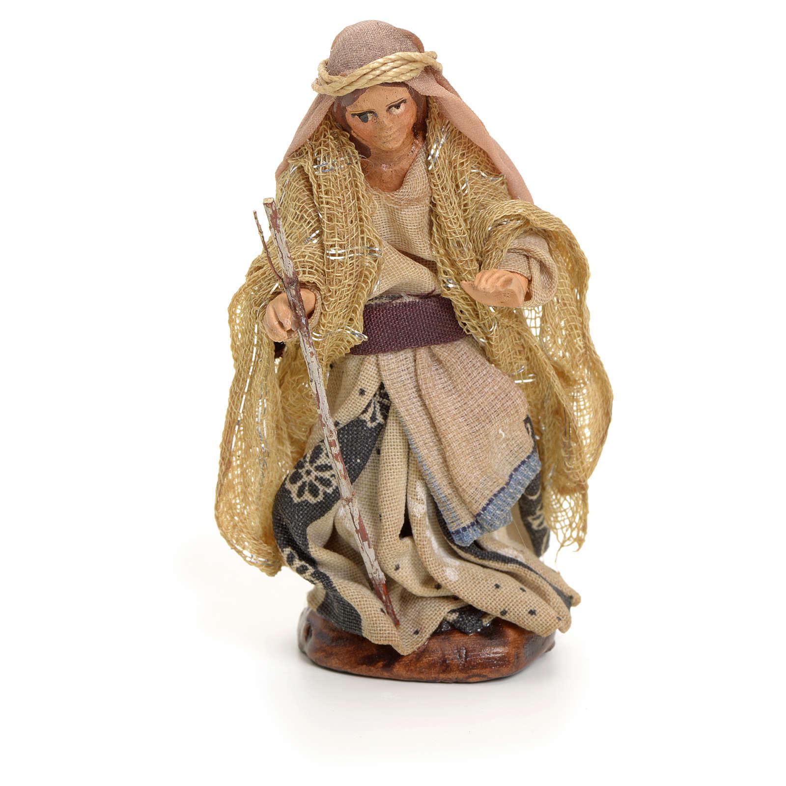 Mujer árabe con el bastón cm 8 pesebre napolitano 4