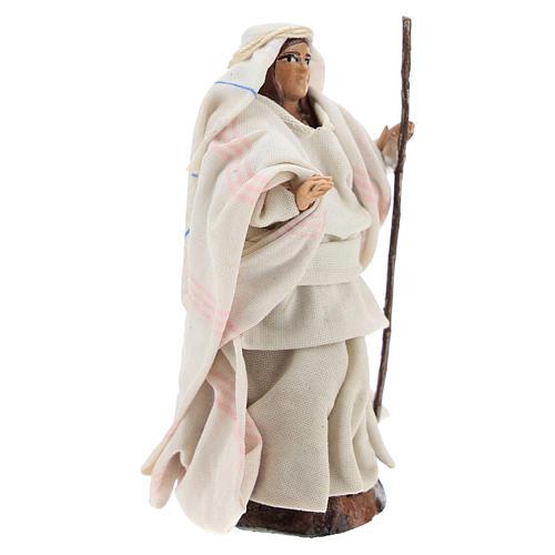 Mujer árabe con el bastón cm 8 pesebre napolitano 3