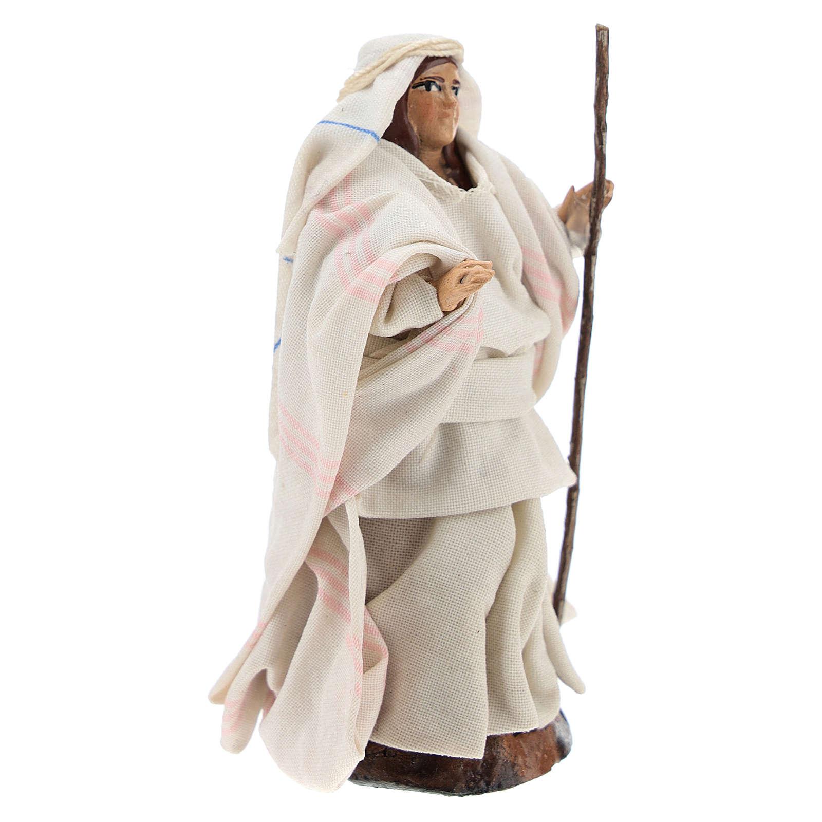 Femme arabe au bâton crèche Napolitaine 8 cm 4