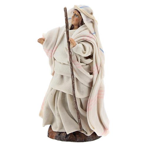 Femme arabe au bâton crèche Napolitaine 8 cm 2