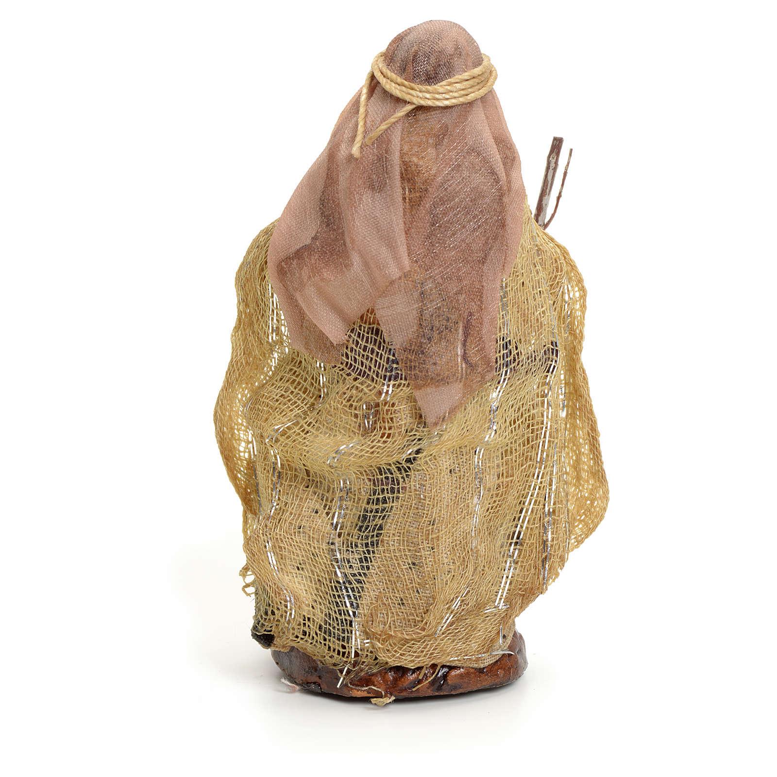 Neapolitan nativity figurine, Arabian woman with stick, 8cm 4