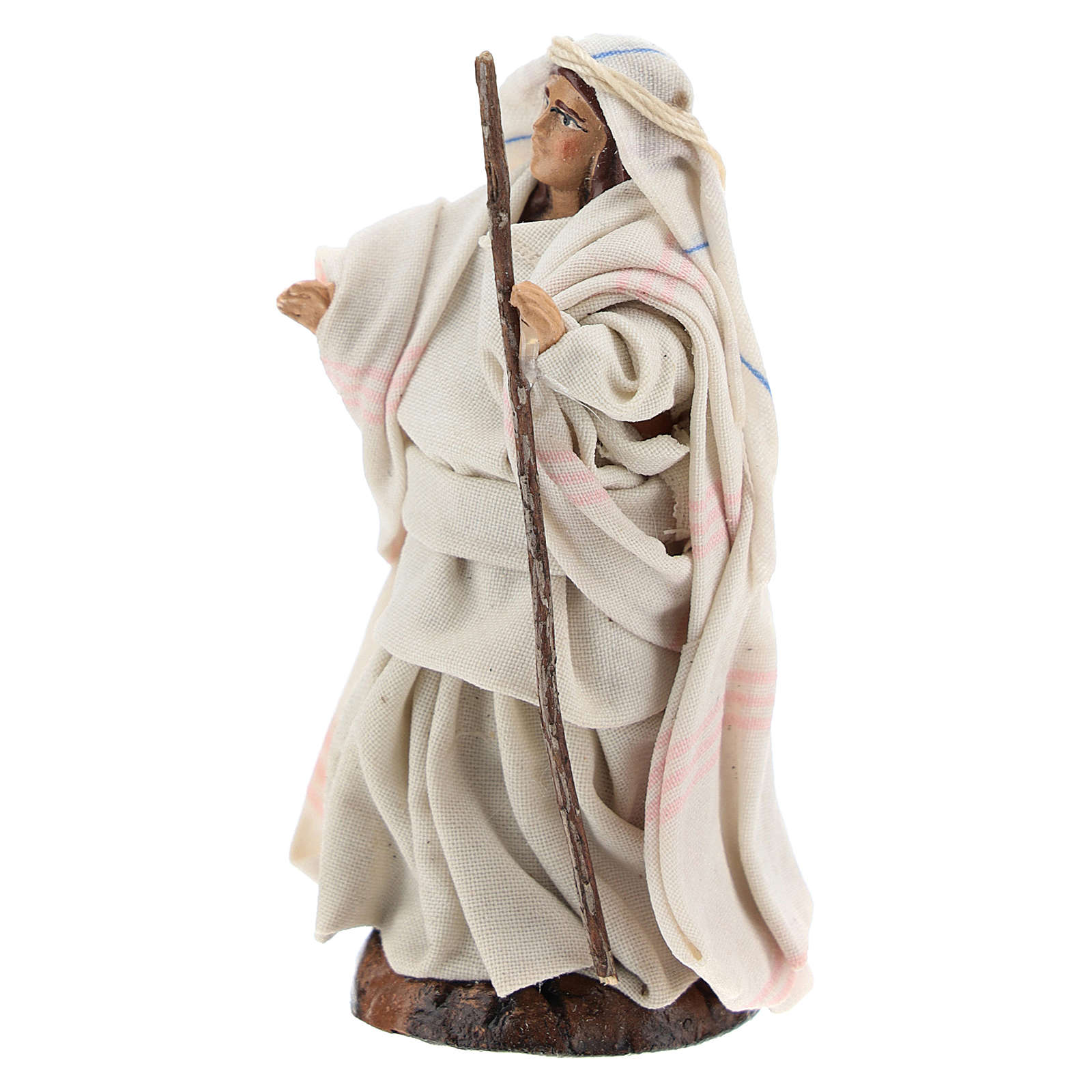 Neapolitan nativity figurine, Arabian woman with stick, 8cm 4