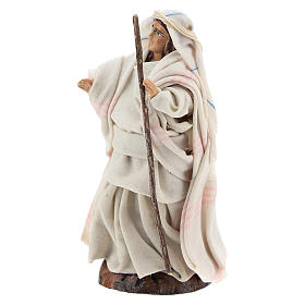Neapolitan nativity figurine, Arabian woman with stick, 8cm s2