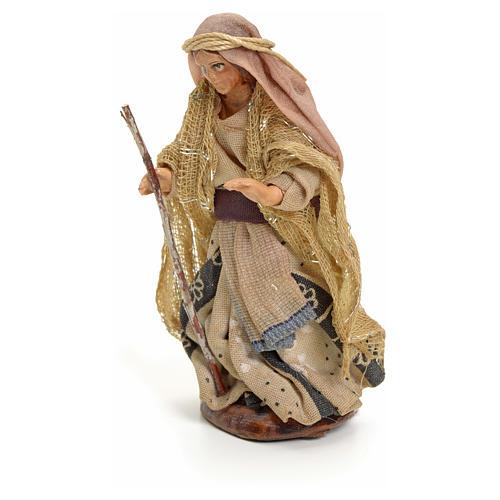 Neapolitan nativity figurine, Arabian woman with stick, 8cm 2