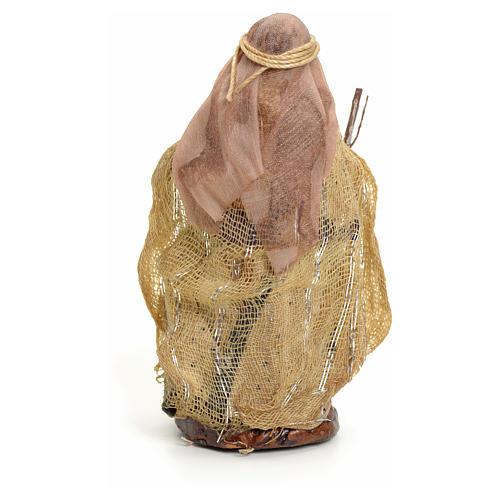 Neapolitan nativity figurine, Arabian woman with stick, 8cm 3