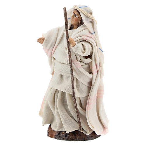 Neapolitan nativity figurine, Arabian woman with stick, 8cm 2