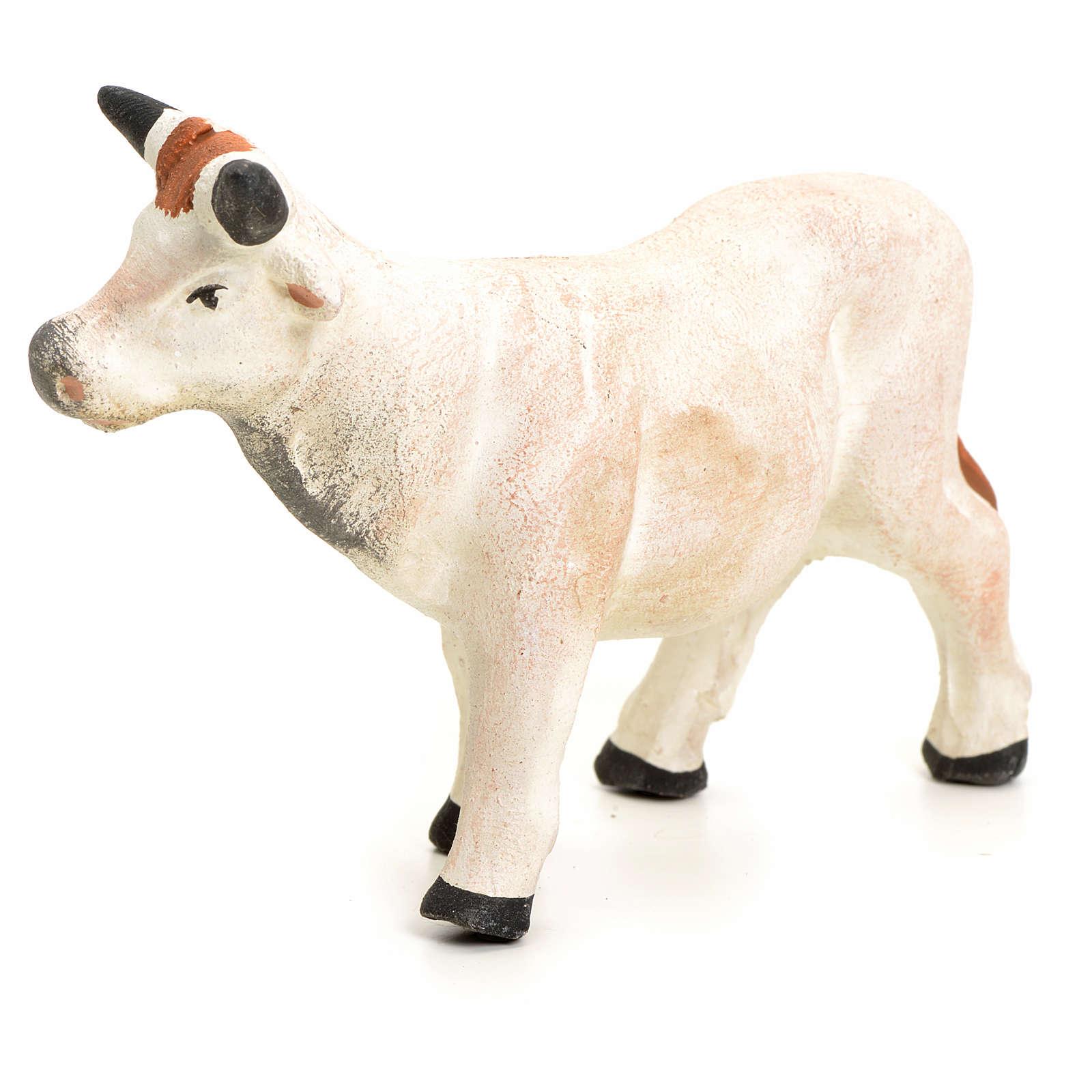 Vache debout pour crèche Napolitaine 8 cm 4