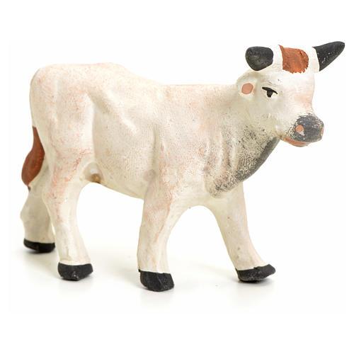 Vache debout pour crèche Napolitaine 8 cm 2