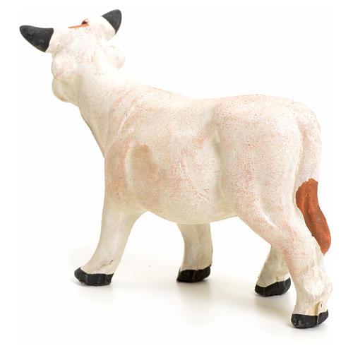 Vache debout pour crèche Napolitaine 8 cm 3