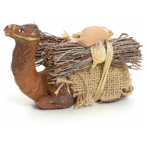 Camello en rodillas con leña cm 8 pesebre napolitano 1