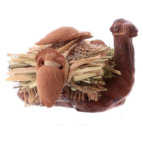 Camello en rodillas con leña cm 8 pesebre napolitano 5
