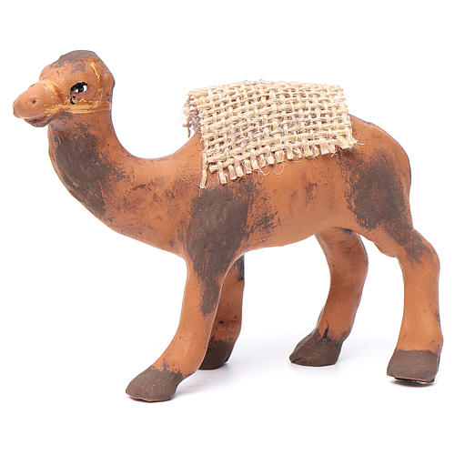 Neapolitan nativity figurine, standing camel, 8cm 1