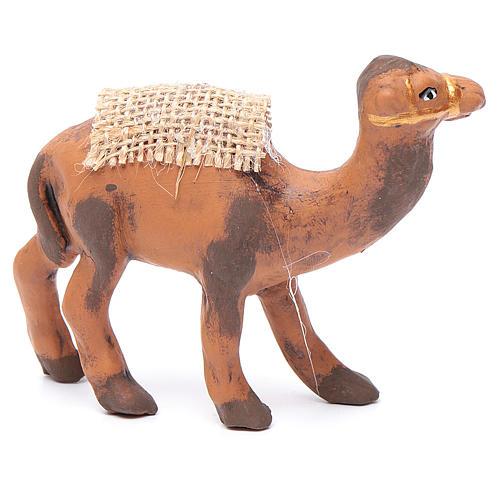 Neapolitan nativity figurine, standing camel, 8cm 2