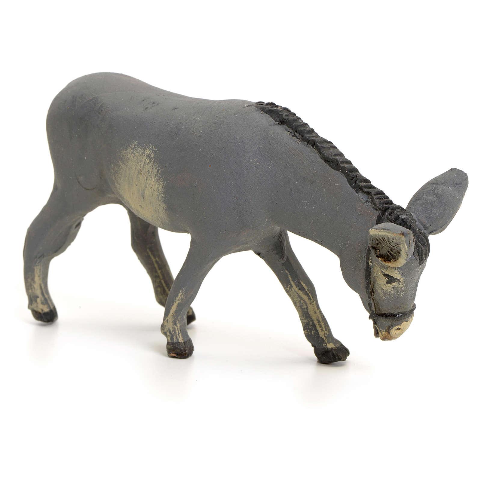 Neapolitan nativity figurine, standing donkey, 8cm 4