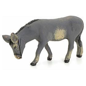 Neapolitan nativity figurine, standing donkey, 8cm s1