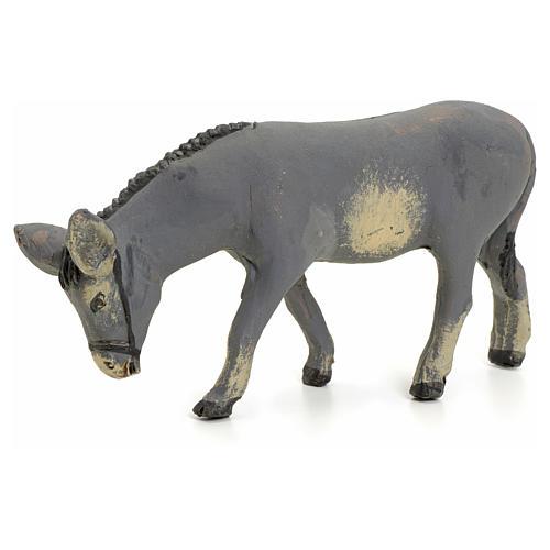 Neapolitan nativity figurine, standing donkey, 8cm 1