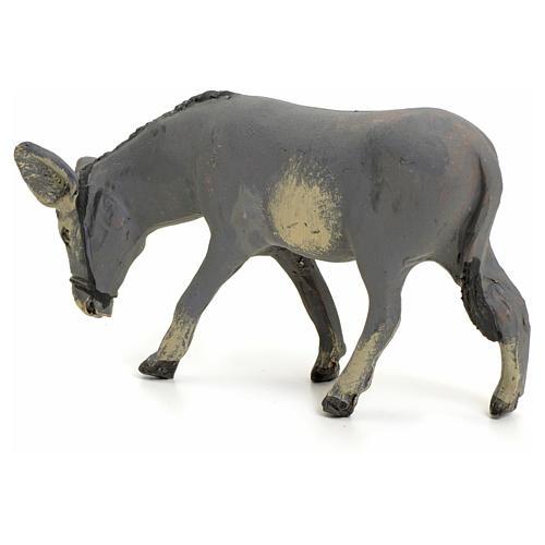 Âne debout pour crèche Napolitaine 8 cm 3