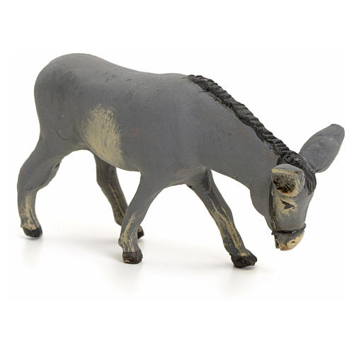 Neapolitan nativity figurine, standing donkey, 8cm 2