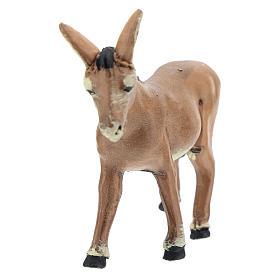 Presepe Napoletano: Asino marrone in piedi cm 8 presepe napoletano