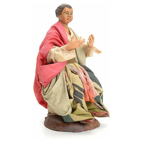 Donna seduta 18 cm presepe Napoletano 2