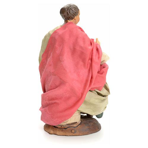 Donna seduta 18 cm presepe Napoletano 3