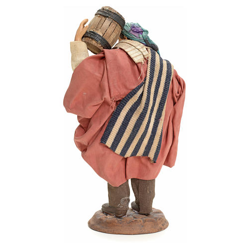 Neapolitan Nativity figurine, man carrying cask, 18 cm 3