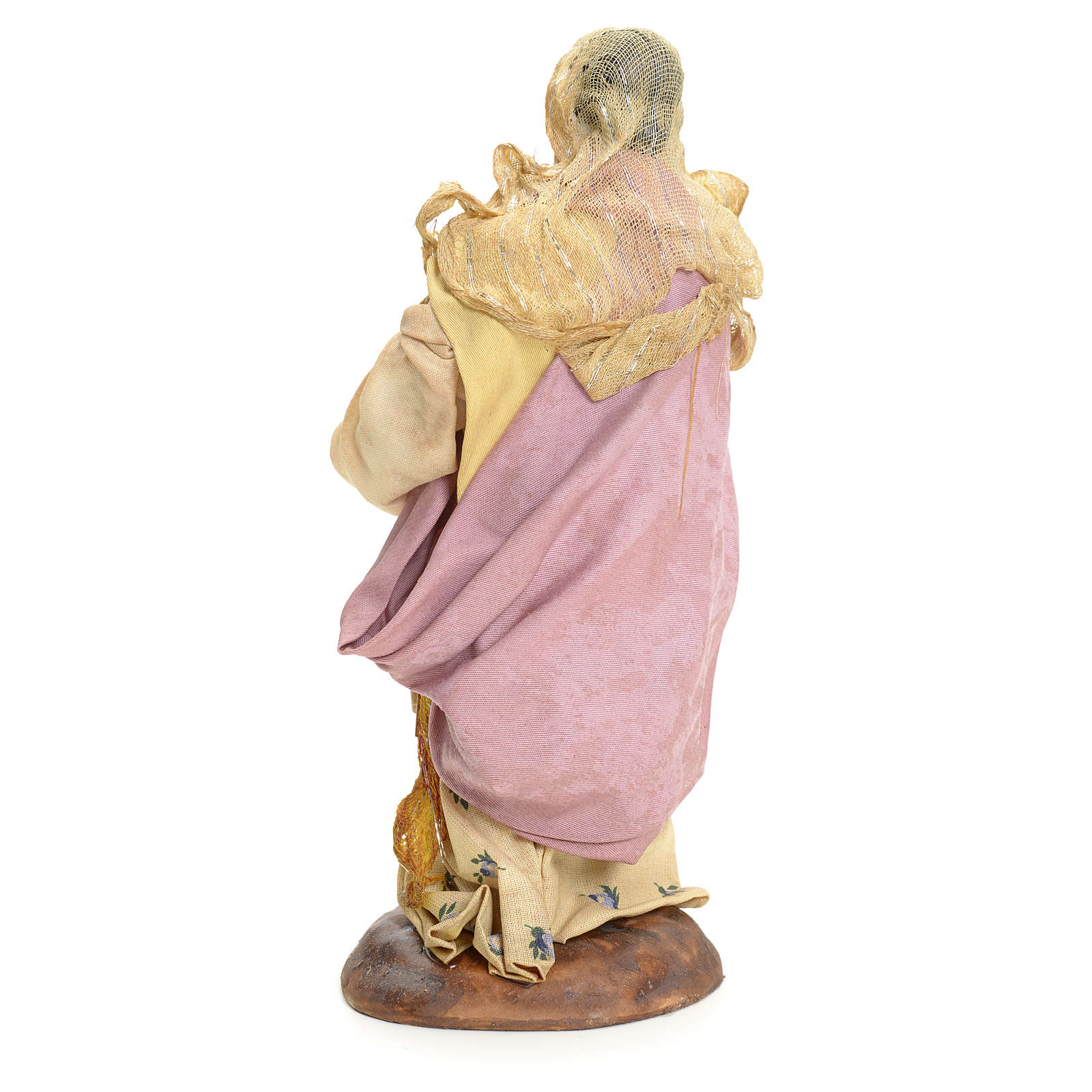 Neapolitan Nativity figurine, woman with hen, 18 cm 4