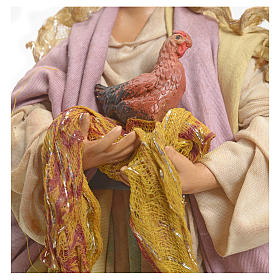 Neapolitan Nativity figurine, woman with hen, 18 cm s4