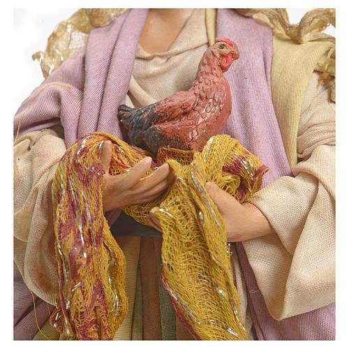 Mujer con gallina 18 Pesebre Napolitano 4