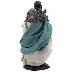 Neapolitan Nativity figurine, woman with hen, 18 cm s5