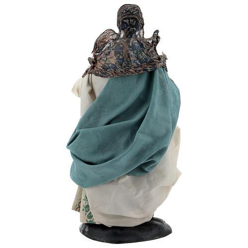 Neapolitan Nativity figurine, woman with hen, 18 cm 5