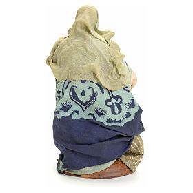 Anziana seduta 18 cm Presepe napoletano s3