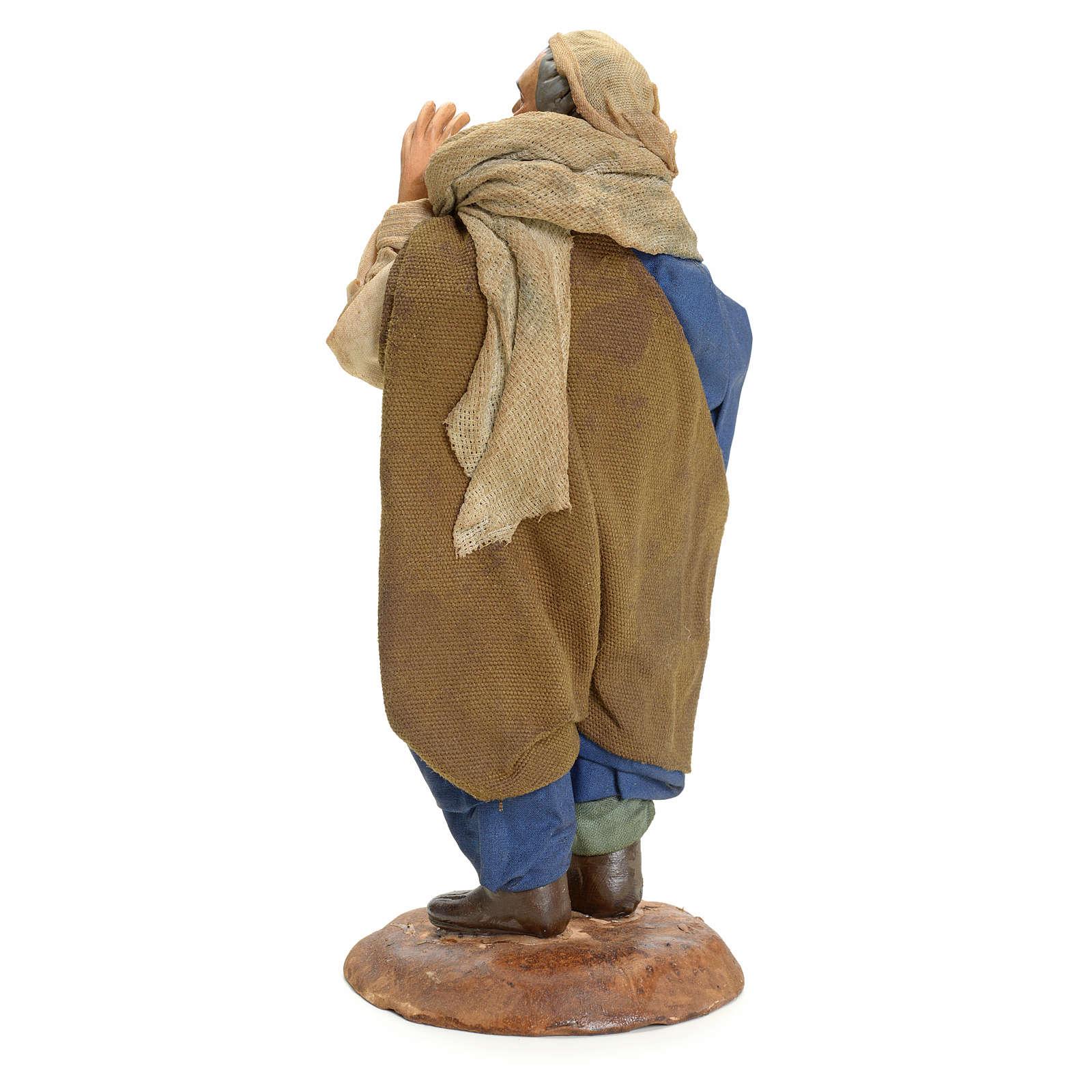 Chanteur crèche Napolitaine 18 cm 4