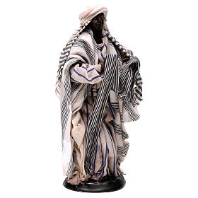 Neapolitan Nativity figurine, cloth seller, 18 cm s4
