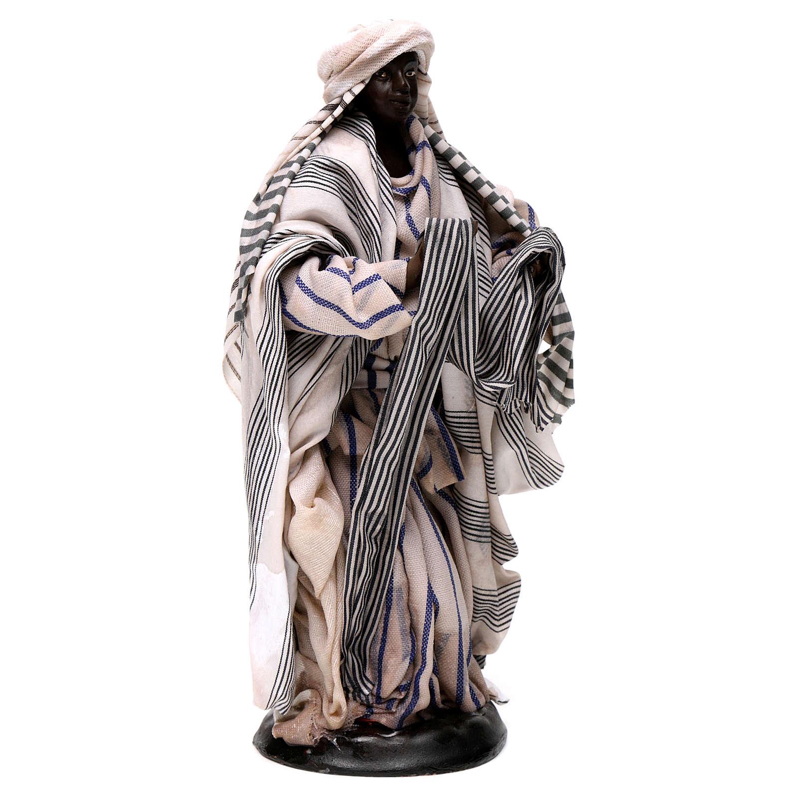 Neapolitan Nativity figurine, cloth seller, 18 cm 4