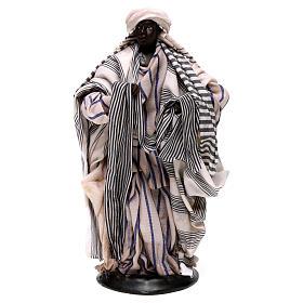 Neapolitan Nativity figurine, cloth seller, 18 cm s1